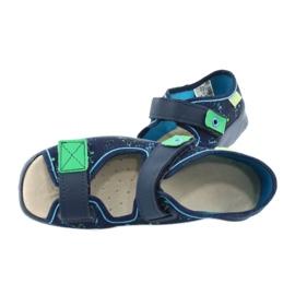 Befado obuwie dziecięce  869Y142 granatowe zielone 5