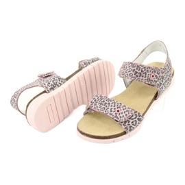 Bartek sandałki różowe w panterkę 76183-BBK beżowy szare 3