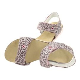 Bartek sandałki różowe w panterkę 79183-BBK beżowy szare 4