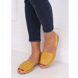 Sandałki damskie miodowe TU150P Yellow żółte 4