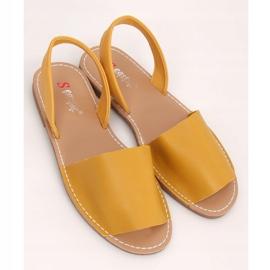 Sandałki damskie miodowe TU150P Yellow żółte 1