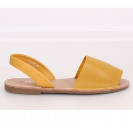 Sandałki damskie miodowe TU150P Yellow żółte 2