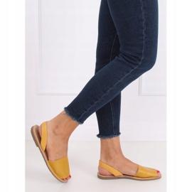 Sandałki damskie miodowe TU150P Yellow żółte 3