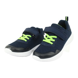 NEWS buty sportowe na rzepy 20DZ55-2312 granatowe zielone 2