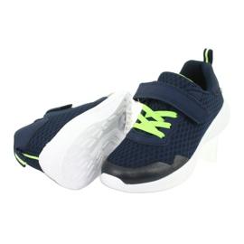 NEWS buty sportowe na rzepy 20DZ55-2312 granatowe zielone 3