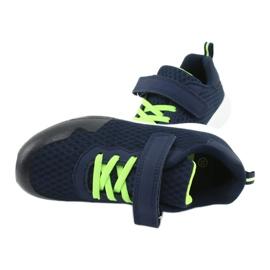 NEWS buty sportowe na rzepy 20DZ55-2312 granatowe zielone 4