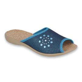 Befado obuwie damskie pu 254D105 niebieskie 1