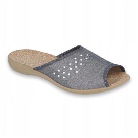 Befado obuwie damskie pu 254D106 szare 1