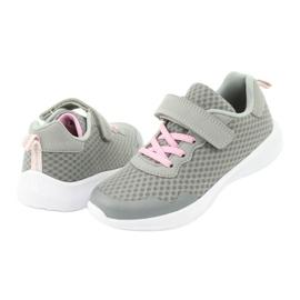 NEWS buty sportowe na rzepy 20DZ55-2312 różowe szare 3