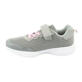 NEWS buty sportowe na rzepy 20DZ55-2312 różowe szare 1