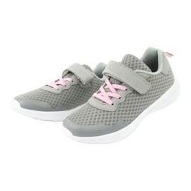 NEWS buty sportowe na rzepy 20DZ55-2312 różowe szare 2