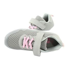 NEWS buty sportowe na rzepy 20DZ55-2312 różowe szare 4