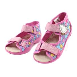 Befado żółte obuwie dziecięce 342P014 różowe 3