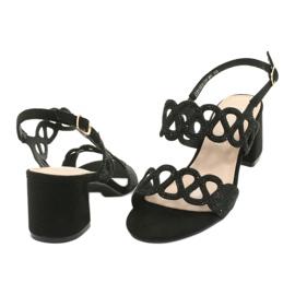 Sandały czarne z cyrkoniami Filippo DS1355/20 BK 3