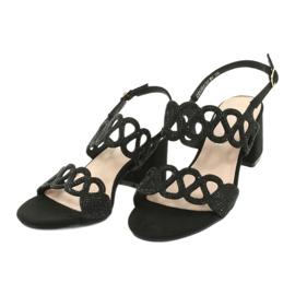 Sandały czarne z cyrkoniami Filippo DS1355/20 BK 2