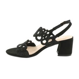 Sandały czarne z cyrkoniami Filippo DS1355/20 BK 1