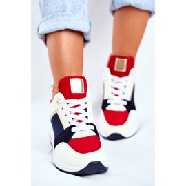 ADY Damskie Sneakersy Sportowe Czerwone Sparks beżowy granatowe wielokolorowe 5