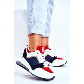 ADY Damskie Sneakersy Sportowe Czerwone Sparks beżowy granatowe wielokolorowe 1