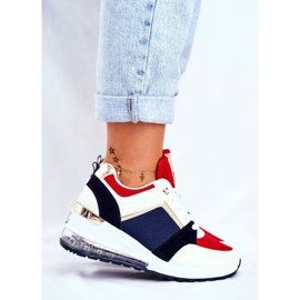 ADY Damskie Sneakersy Sportowe Czerwone Sparks beżowy granatowe wielokolorowe 4