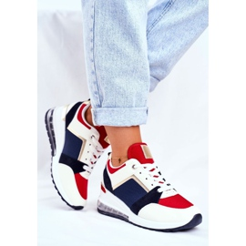 ADY Damskie Sneakersy Sportowe Czerwone Sparks beżowy granatowe wielokolorowe 3