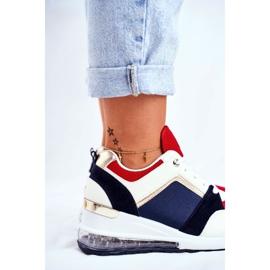 ADY Damskie Sneakersy Sportowe Czerwone Sparks beżowy granatowe wielokolorowe 6