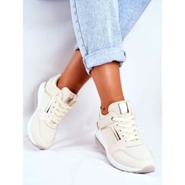 ADY Damskie Sneakersy Sportowe Beżowe Sparks beżowy 1