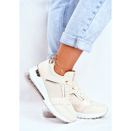 ADY Damskie Sneakersy Sportowe Beżowe Sparks beżowy 3