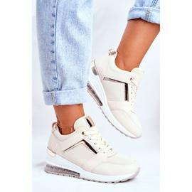 ADY Damskie Sneakersy Sportowe Beżowe Sparks beżowy 5