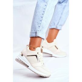 ADY Damskie Sneakersy Sportowe Beżowe Sparks beżowy 4
