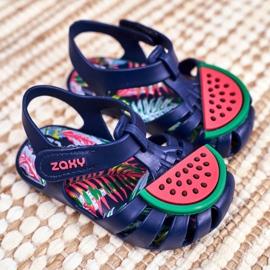Dziecięce Sandałki Na Rzep Pachnące Arbuz ZAXY FF3855013 granatowe 2