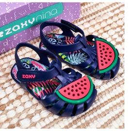 Dziecięce Sandałki Na Rzep Pachnące Arbuz ZAXY FF3855013 granatowe 4