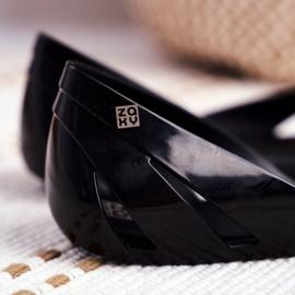 Damskie Baleriny Pachnące Gumowe ZAXY Czarne FF285053 4