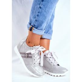 Sneakersy Damskie M.DASZYŃSKI Szare SA170-2 1