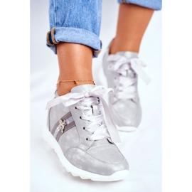 Sneakersy Damskie M.DASZYŃSKI Szare SA170-2 3