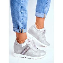 Sneakersy Damskie M.DASZYŃSKI Szare SA170-2 4