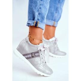 Sneakersy Damskie M.DASZYŃSKI Szare SA170-2 2