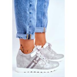 Sneakersy Damskie M.DASZYŃSKI Szare SA170-2 5