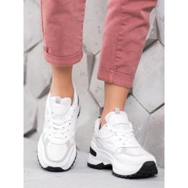 SHELOVET Białe Sneakersy Sportowe 4