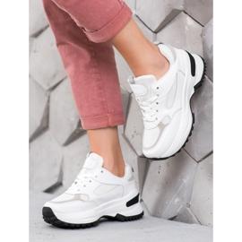 SHELOVET Białe Sneakersy Sportowe 1