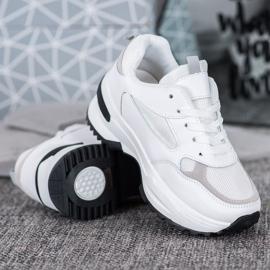 SHELOVET Białe Sneakersy Sportowe 2
