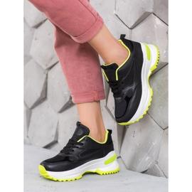 SHELOVET Czarne Sneakersy Sportowe 1