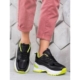 SHELOVET Czarne Sneakersy Sportowe 5