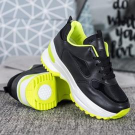 SHELOVET Czarne Sneakersy Sportowe 3