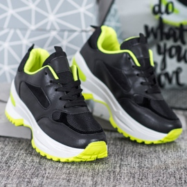 SHELOVET Czarne Sneakersy Sportowe 4