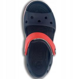 Klapki Crocs Crocband Sandal Kids 12856 485 białe czerwone niebieskie 1