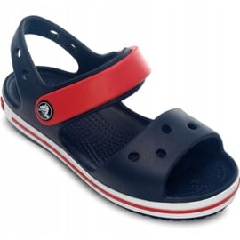 Klapki Crocs Crocband Sandal Kids 12856 485 białe czerwone niebieskie 3