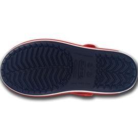 Klapki Crocs Crocband Sandal Kids 12856 485 białe czerwone niebieskie 5