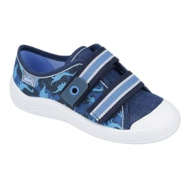 Befado obuwie dziecięce  672X066 granatowe niebieskie 1