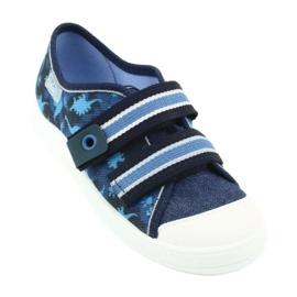 Befado obuwie dziecięce  672X066 granatowe niebieskie 2
