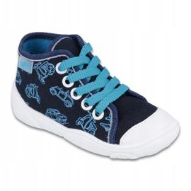 Befado obuwie dziecięce 218P059 granatowe niebieskie 1